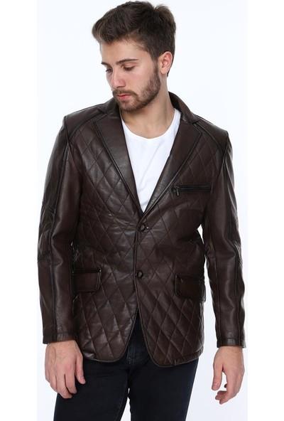 Derimont's Paname Kahverengi Erkek Deri Ceket