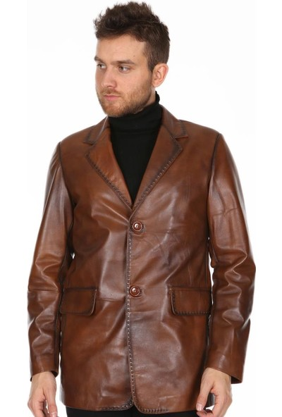 Derimont's Erkek Taba Deri Ceket