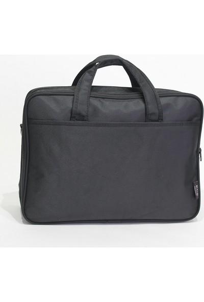ECS Laptop Bölmeli Kumaş Evrak Çantası 162E Siyah