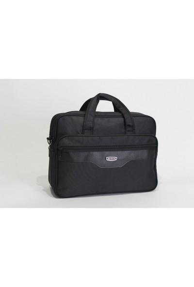 ECS Laptop Bölmeli Kumaş Evrak Çantası 164E Siyah