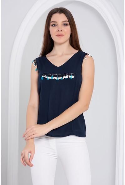 Blue Gym Renkli Bluz 42