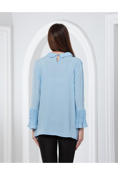 Blue Gym Renkli Bluz 40