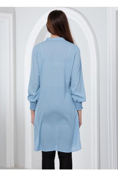 Blue Gym Renkli Bluz 38