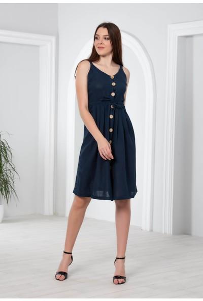 Blue Gym Kadın Düğmeli Elbise 38