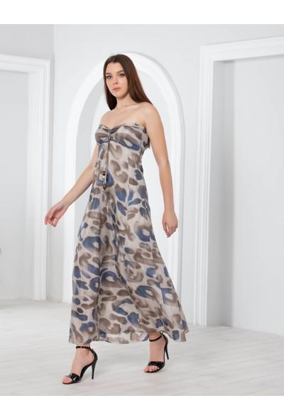 Blue Gym Kadın Desenli Elbise 38