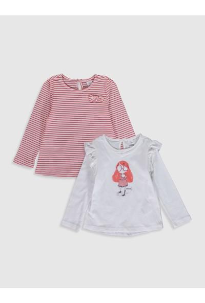 LC Waikiki Kız Bebek T-Shirt 2'li