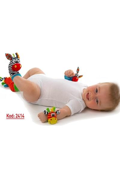 Sozzy Çıngıraklı Bebek Bileklik ve Çorap Seti K2414