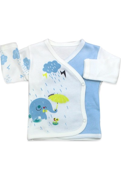 Mini Zeyn Filli Yağmurlu 5 Li Mavi Bebek Seti K2942