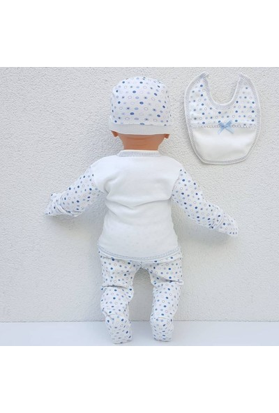 Bebegen Chery Kalpli Açık Mavi 5 Parça Erkek Bebek Hastane Çıkış Seti