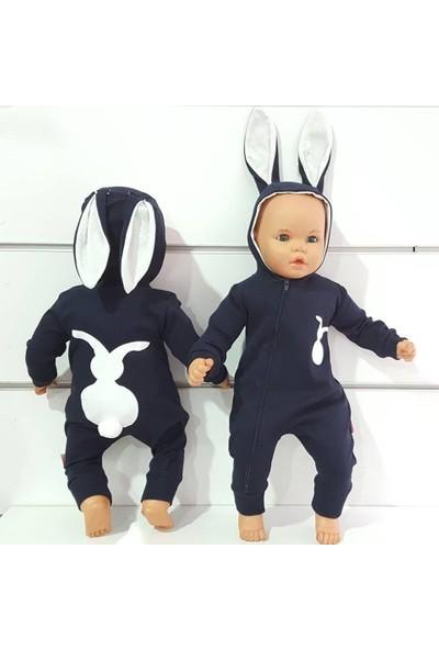 Bebegen Laci Tavşan Kulaklı Ponponlu Bebek Tulum