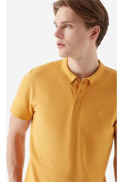 Mavi Erkek Koyu Sarı Polo T-Shirt