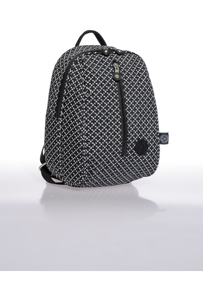 Smart Bags SMB1233-0127 Siyah/beyaz Kadın Küçük Sırt Çantası