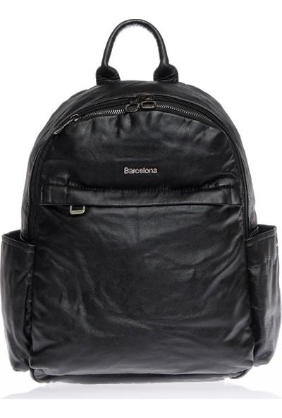 Barcelona BRC1820-0001 Siyah Kadın Sırt Çantası