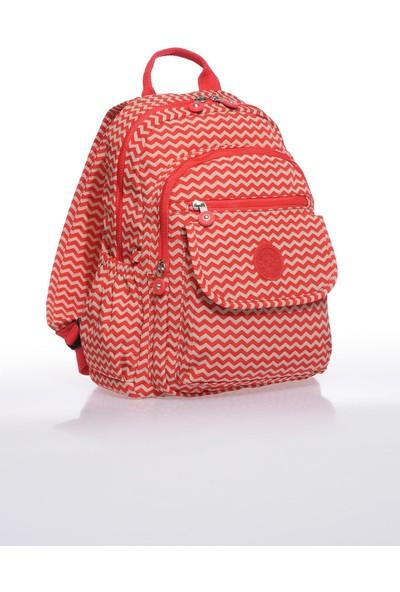 Smart Bags SMB1187-0134 Kırmızı/bej Kadın Sırt Çantası