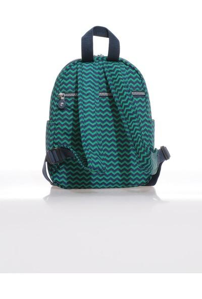 Smart Bags SMB3028-0066 Lacivert/yeşil Kadın Küçük Sırt Çantası