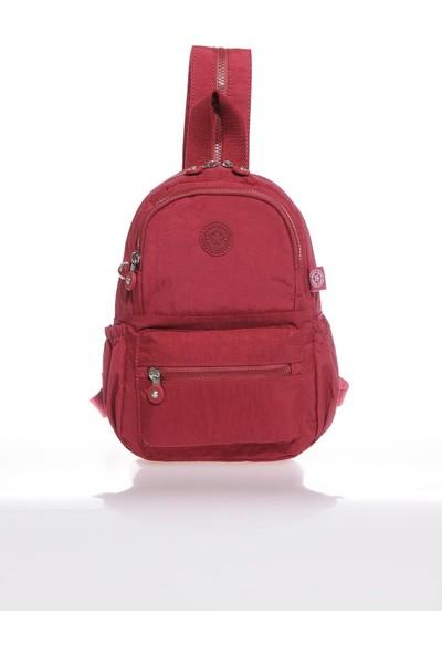 Smart Bags SMB1030-0021 Bordo Kadın Küçük Sırt Çantası