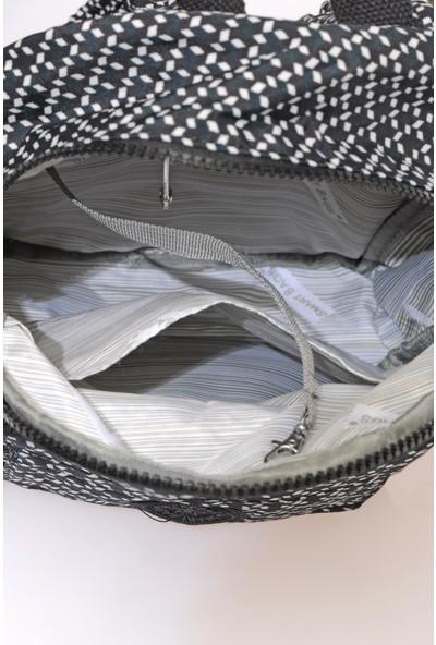 Smart Bags SMB3028-0127 Siyah/beyaz Kadın Küçük Sırt Çantası