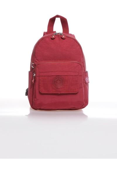 Smart Bags SMB3028-0021 Bordo Kadın Küçük Sırt Çantası
