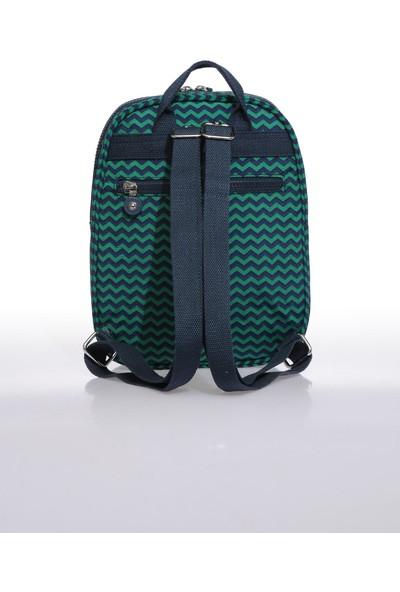 Smart Bags SMB1233-0066 Lacivert/yeşil Kadın Küçük Sırt Çantası