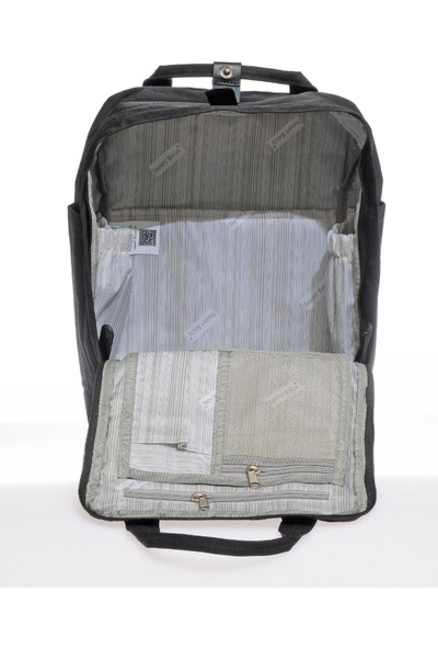 Smart Bags SMB6004-0001 Siyah Kadın Sırt Çantası