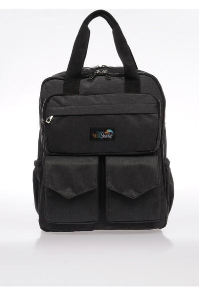 Milkshake MP9072-Y Siyah Unisex Laptop Bölmeli Sırt Çantası
