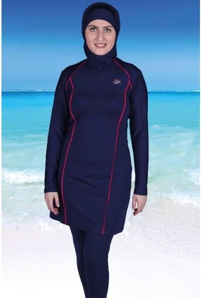 Sezer Mayo Hanife Uzun Kollu Yüzme Kıyafeti