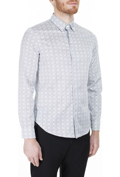 Emporio Armani Slim Fit Erkek Gömlek 3H1Cl6 1Njjz F984
