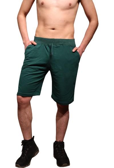 Tampap Cepli Pamuklu Yazlık Spor Erkek Şort Kapri Yeşil