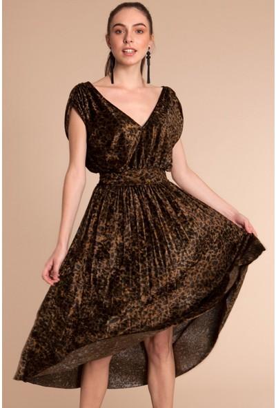 Bexy Romina - Leopar Desenli Elbise L