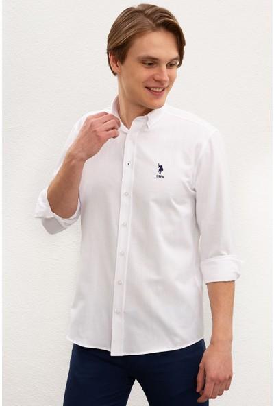 U.S. Polo Assn. Erkek Dokuma Gömlek 50218935-VR013