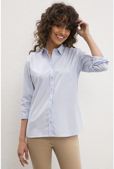 U.S. Polo Assn. Kadın Dokuma Gömlek 50219519-VR003