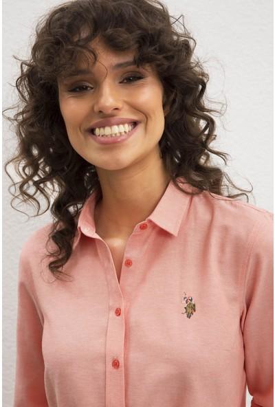 U.S. Polo Assn. Kadın Dokuma Gömlek 50219521-VR047