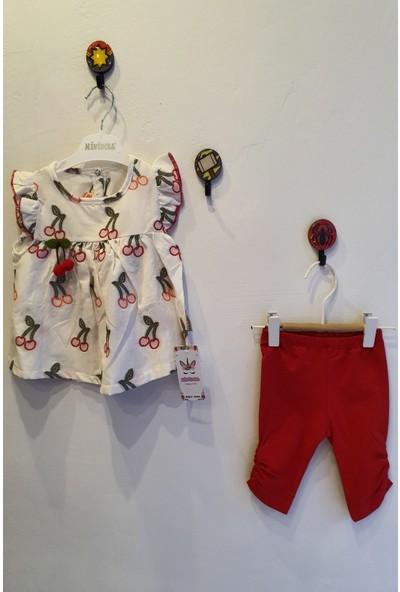 Minidoll Kız Bebek 6 - 18 Ay Kirazlı Taytlı İkili Takım