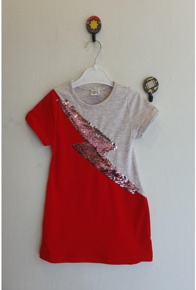 Mini Çitlenbik Kız Çoçuk 3 - 7 Yaş Pul Payetli Elbise