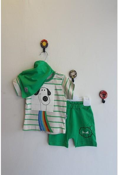 May Mirr Erkek Bebek 6 - 18 Ay Köpek Baskılı İkili Takım