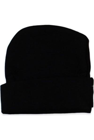 Güneş Bebe Mamas Boy Şapkalı 3'Lü Takım Siyah 3 - 6 Ay