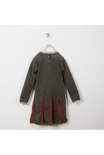 Panço Kız Çocuk Örme Elbise 18226009100