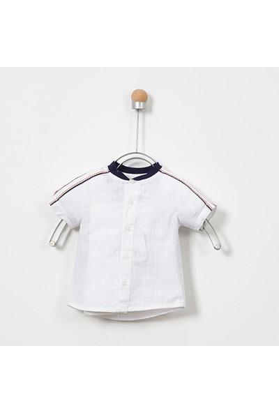 Panço Erkek Bebek Kısa Kollu Gömlek 19112082100