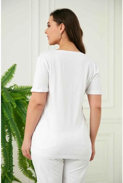 Rmg Büyük Beden Kadın T-Shirt