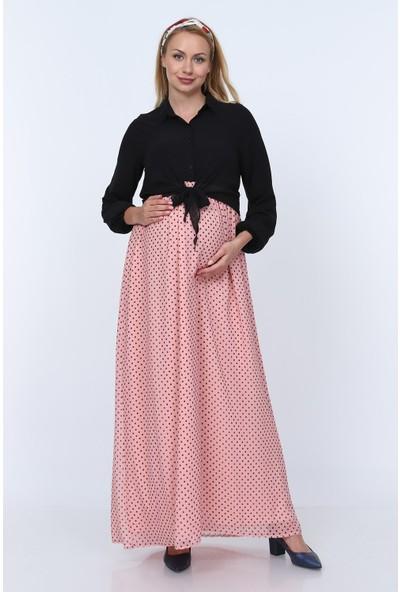 Görsin Hamile Uzun Şifon Elbise