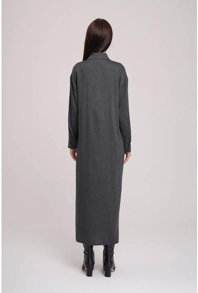 Mizalle Ekose Garnili Elbise