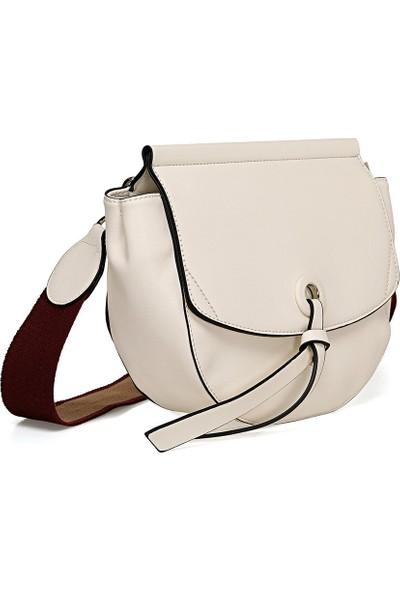 Nine West Knot Beyaz Kadın Çapraz Çanta