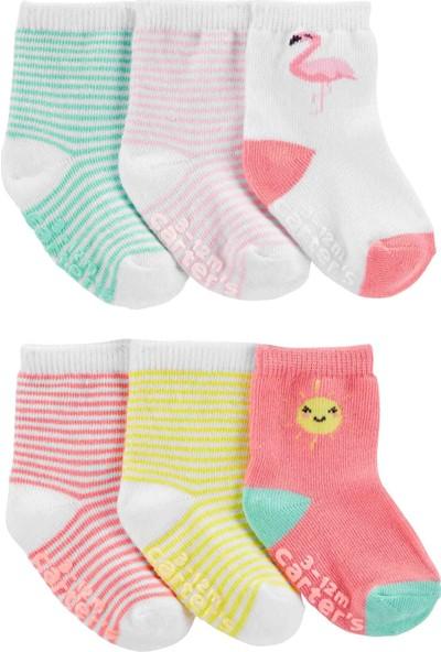 Carter's Kız Bebek 6'lı Çorap 1H569310