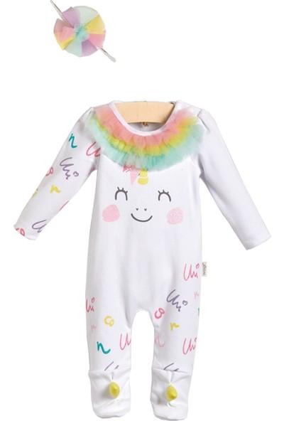 Wogi Kız Bebek Unicorn 2'li Tulum Seti 3-6 Ay