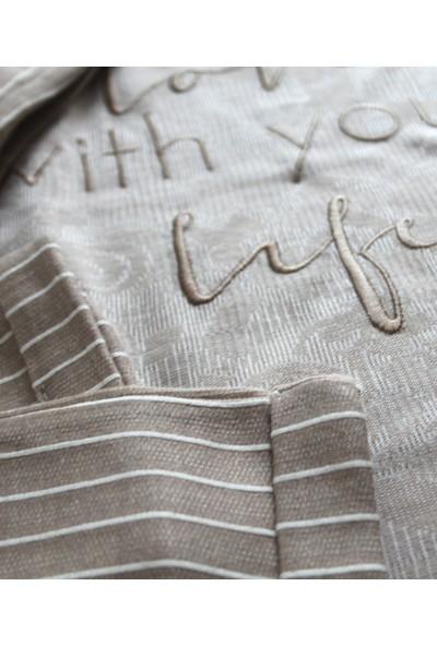 Poleren Kadın Pijama Takımı Spor Ev Giyim Alt Üst Takım