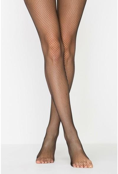 Penti Siyah File Külotlu Çorap