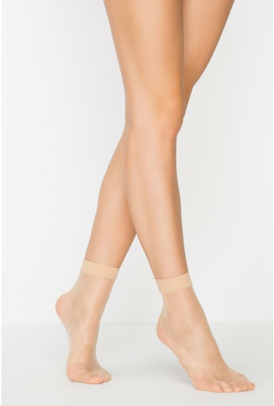 Penti Açık Ten Rengi Fit 15 3'lü Soket Çorap