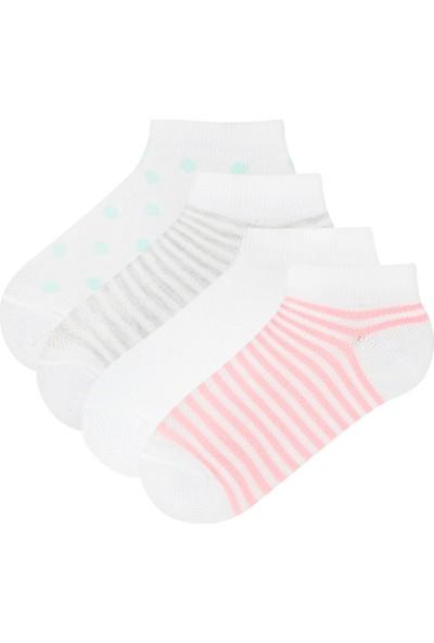 Penti Çok Renkli Kız Çocuk Core 4'lü Patik Çorap
