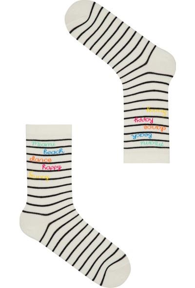 Penti Marşmelov Miami Striped Soket Çorap