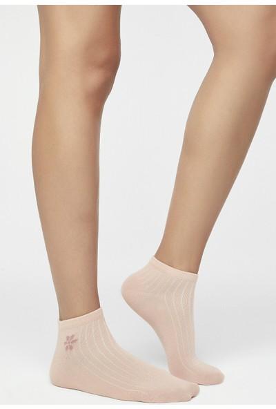 Penti Çok Renkli Mini Flower 2'li Patik Çorap